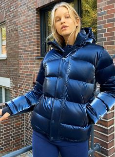 Jacket Style, Jacket Dress, Puffer Jackets, Winter Jackets, Easy Shape, Long Vests, Down Coat, Crew Sweatshirts, Winter Coat