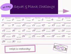 30 Day squat & plank challenge