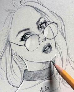 Fabulous Drawing On Creativity Ideas. Captivating Drawing On Creativity Ideas. Easy Pencil Drawings, Girly Drawings, Cool Art Drawings, Realistic Drawings, Beautiful Drawings, Drawing Faces, Drawing Lips, Drawing Hair, Drawing Drawing