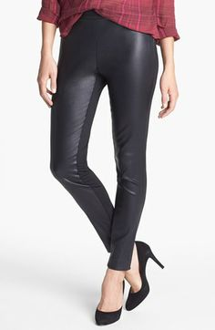 Halogen® Faux Leather & Ponte Pants (Regular & Petite) available at #Nordstrom