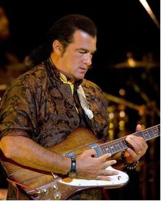 Steven Seagal had a blues band that opened for Sammy Hagar. The band wasn't bad.