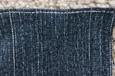 Many people end up with jeans that are too long in order to get them to fit correctly in the waist. However, when jeans are shortened, the new hem doesn't usually look quite as. How To Make Jeans, How To Make Clothes, Altering Jeans, Altering Clothes, Sewing Hacks, Sewing Tutorials, Hemming Jeans, Mens Sewing Patterns, Circle Skirt Pattern