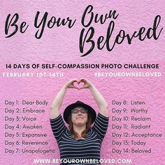 This lovely challenge is going on and you should join in. Vivienne's work is super powerful and it's a great chance to experience her first hand! #bravebodylove  # .  from @viviennemcm -  The Be Your Own Beloved 14 Days of Self-Compassion Photo Challenge is here! These are our the daily prompts we're going to take our selfies inspired by! Check in each day here at my Instagram for some insights and inspiration for each challenge but of course take your selfie your way inspired by the theme…