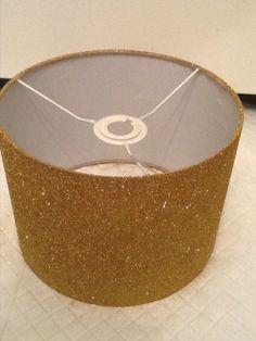 Diy gold dot lampshade room crafty and craft gold glitter lampshade aloadofball Image collections