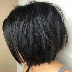 60 Most Beneficial Haircuts for Thick Hair of Any Length bob haircut styles for black hair - Black Haircut Styles Short Layered Bob Haircuts, Bob Haircuts For Women, Short Hairstyles For Thick Hair, Haircut For Thick Hair, Short Hair Cuts, Short Hair Styles, Curly Hairstyles, Pixie Haircuts, Layered Bobs