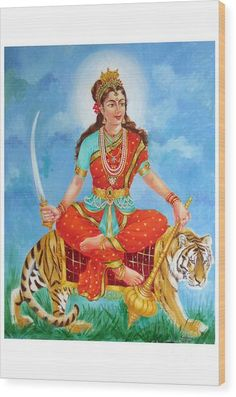 Durga Devi Art Print by Kalpana Talpade Ranadive Durga Kali, Shiva Hindu, Shiva Art, Shiva Shakti, Hindu Deities, Krishna Art, Hindu Art, Indian Gods, Indian Art