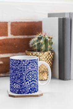 Aimee St Hill Amirah Blue Coffee Mug | DENY Designs Home Accessories