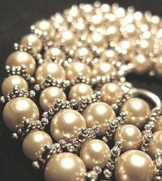 beaded pearls....