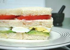 triple de lado - sandwich peruano - avocado, tomato, egg sanwich - simple but delicious - peruvian food