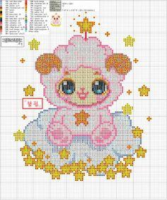 Zodiac Baby Aries Cross Stitch Pattern 2/2