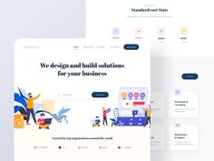 Landing Page Design for SAAS Agency designed by sadbin walid. Landing Page Builder, Landing Page Design, Landing Page Examples, Free Website, Website Ideas, Create Your Own Website, Web Design Inspiration, Show And Tell, Design Agency