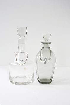 Vintage  Decanters   Gin and Fine   Bohemia  by PomegranateVintage, $95.00