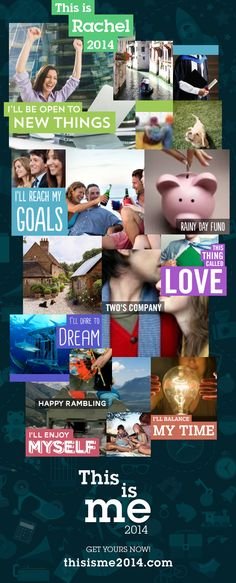 Here's my vision of 2014, a snapshot of my goals. If your New Year's resolutions are long gone try #thisisme2014, the fun goal-setting quiz that gives you a vision board to motivate you everyday. Go for it: https://quiz.visualdna.com/me2014