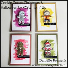 Cookie Cutter notecardset cookie cutter Christmas & cookie cutter Halloween stamp sets by Stampin' Up!