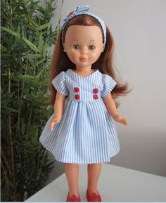 mis nancys mis peques y yo, vestido muñeca nancy marinero Pyjamas, Vestidos Nancy, American Girl, Nancy Doll, Spanish Girls, Girls Dresses, Flower Girl Dresses, Patriotic Outfit, Wellie Wishers