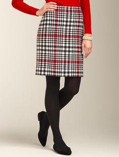 Talbots - Aspen Plaid Pencil Skirt   Skirts   Misses
