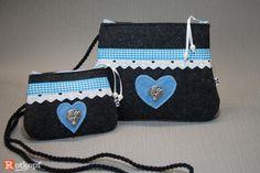Trachtentaschen - Dirndltasche Trachtentasche Set - ein Designerstück von Rotkopf-design bei DaWanda