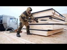 The German House in 5 days . Step by step Build Your House, Building A House, Cabana, Diy Wood Stove, German Houses, Tiny House, Milan, Maine, Construction
