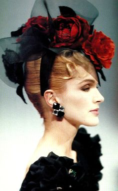 HANAE MORI Haute-Couture spring/summer 1987 #millinery #judithm #hats