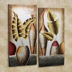 Grecian Pottery Canvas Wall Art Set