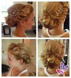 vintage curly updos - Google Search