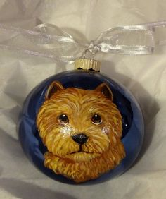 Norwich Terrier Cutie Face Hand Painted by paintedpooches on Etsy, $22.00