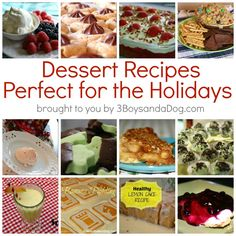 15 Dessert Recipes Perfect for the Holidays.  These look so good!  #thanksgiving #desserts #holidays