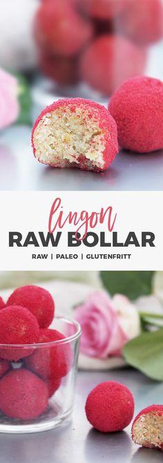 Recept: Röda rawbollar till alla hjärtansdag. Raw / Paleo / Glutenfritt Raw Dessert Recipes, Paleo Dessert, Raw Food Recipes, Fun Desserts, Healthy Sweets, Healthy Baking, Healthy Snacks, Vegan Treats, Coco