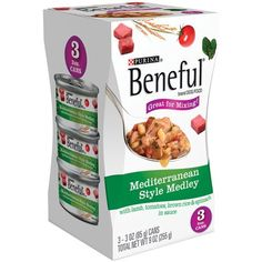 Purina Beneful Mediterranean Style Medley, 3-pack 3 Oz Cans (Case of 8) Total 24 Cans @@@ You could find out more details at the link of the image. (This is an affiliate link and I receive a commission for the sales)
