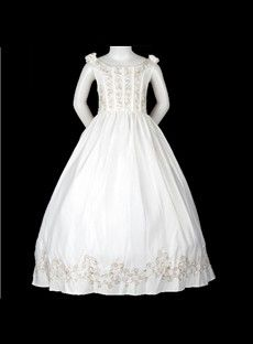 Lovely Ball Gown Scoop Floor-length Tiered Embroidery Flower Girl Dress EF53449