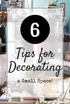 Want to learn how to best optimize your small space? Learn 6 helpful tips for decorating a small space over on the blog http://www.artsandclassy.com