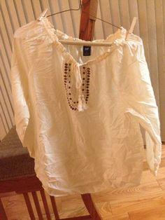 Sheer Gemstone Gap Peasent Shirt #Swapdom