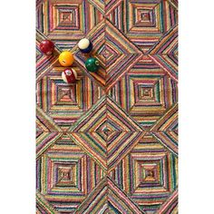 Dash and Albert Rugs Cotton Micro-Hooked Kaledo Primary Rug