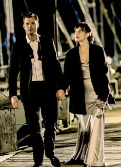 """""""Okay … you've lost me, Christian."""" He grins. """"She's a great boat."""" """"She looks mighty fine, Mr."""" He pulls me to the side so I can see her name: The Grace. I'm surprised. 50 Shades Freed, Fifty Shades Darker, Fifty Shades Of Grey, Fifty Shades Series, Fifty Shades Movie, Gray Aesthetic, Couple Aesthetic, Mr Grey, Movie Couples"""