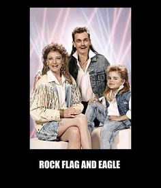 Rock flag and eagle