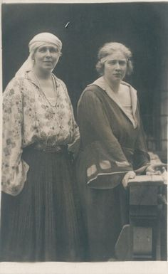 Königin Marie von Rumänien mit Tochter Maria , future Queen of Yugoslavia | Flickr - Photo Sharing!