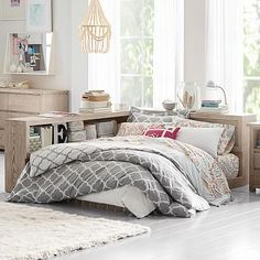 Costa Platform Lounge Bed #pbteen