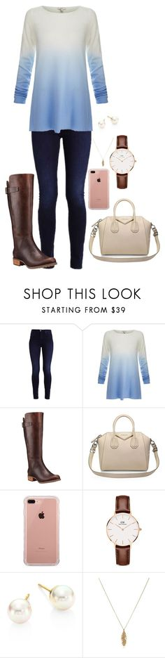 """""""Mrs.Daniella""""s Outfit"""" by slytherin-emu-loner ❤ liked on Polyvore featuring Joie, Timberland, Givenchy, Belkin, Daniel Wellington and Majorica"""