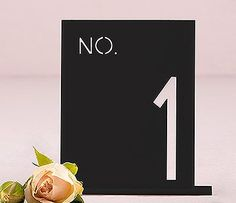 Acrylic Table Number In Block Style $10.43   Weddingfavours.ca (Ingersoll, Ontario)