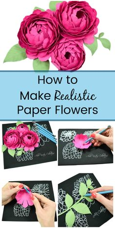 Create large or small paper flowers easily with the help of the Paper Blooms shaping mat and tool set. Curl, cup, create veins or ridges and fold petals. Use this tool set alongside your paper flower templates. Paper Flower Patterns, Paper Flowers Craft, How To Make Paper Flowers, Large Paper Flowers, Crepe Paper Flowers, Paper Flower Tutorial, Paper Roses, Flower Crafts, Diy Flowers