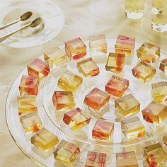 Dessert Wine Gelees with Citrus Fruit Recipe Desserts with cold water, unflavored gelatin, sugar, water, dessert wine, sauterne, grapefruit