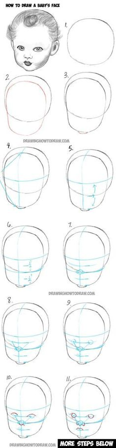 Learn How to Draw a Baby's Face : Drawing Infant Faces with Step by Step Drawing… #stepbystepfacepainting