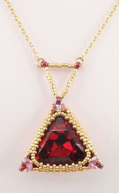 Instructions for Triangle Trinket   Beading Tutorial by njdesigns1, $10.00