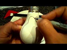 Light Bulb Penguin Tutorial...Part 1 - YouTube (mostly for the hat, I like the little hat)