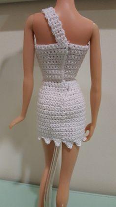 Back view of the Barbie Wilma Flintstone Inspired Bodycon Dress