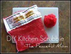 { clean } DIY kitchen scrubbie