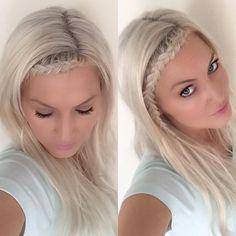 tiny Dutch lace headband braid from hairspirationbykylee