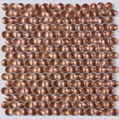 Link Concave Copper 29.2cm x 29.2cm Mosaic Tile Copper 29, Copper Metal, Mosaic Tiles, Wall Tiles, Copper Splashback, Tiles Direct, Metallic Spray Paint, Kitchen Family Rooms, Copper Material