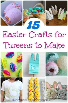 Easter crafts for tweens to make - Check out our round up of super awesome crafts for tweens to make. | Easter Crafts for kids | Easter crafts for tweens | Homemade Easter |