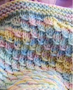 Knitting pattern for Dragon Baby Blanket - #ad Easy quick pattern for a blanket that got its name because the stitch resembles scales. Looks great in multi-color yarn!